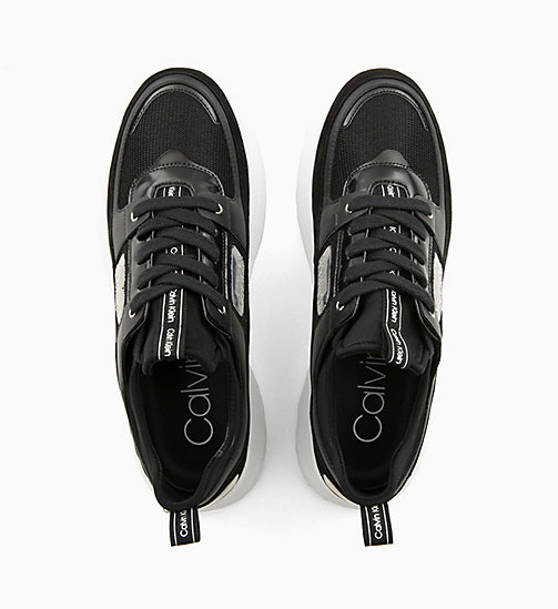 CALVIN KLEIN Leather Trainers - BLACK - CALVIN KLEIN TRAINERS - detail image 1