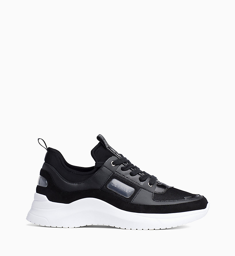 CALVIN KLEIN Leather Trainers - WHITE - CALVIN KLEIN WOMEN - main image