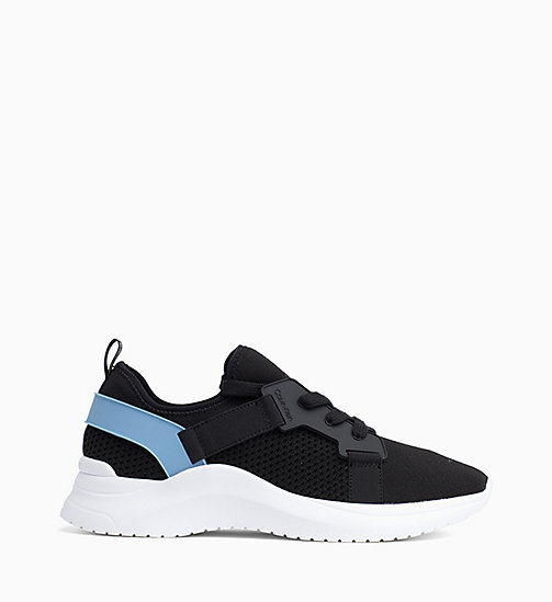CALVIN KLEIN Knit Trainers - BLACK/DUSTY BLUE - CALVIN KLEIN TRAINERS - main image