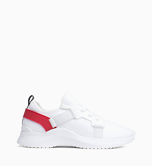CALVIN KLEIN Knit Trainers - WHITE/CHERRY - CALVIN KLEIN TRAINERS - main image