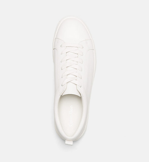 CALVINKLEIN Leather Sneakers - PLATINUM WHITE -  TRAINERS - detail image 1