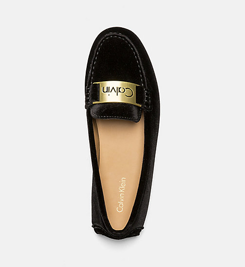 CALVINKLEIN Velvet Loafers - BLACK - CALVIN KLEIN FLAT SHOES - detail image 1