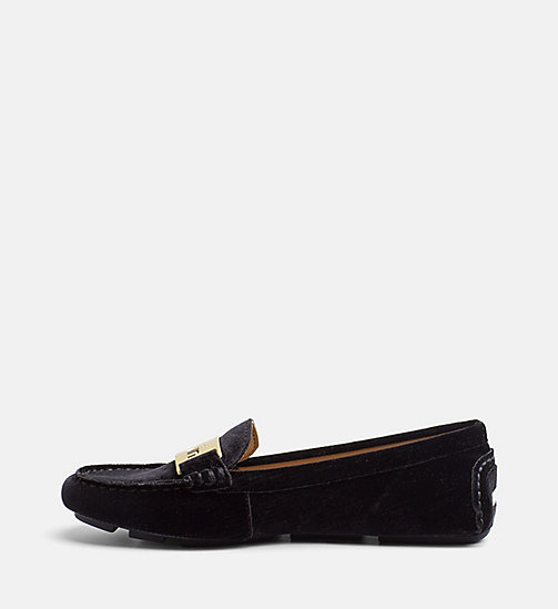 CALVIN KLEIN Velvet Loafers - BLACK - CALVIN KLEIN FLAT SHOES - detail image 1