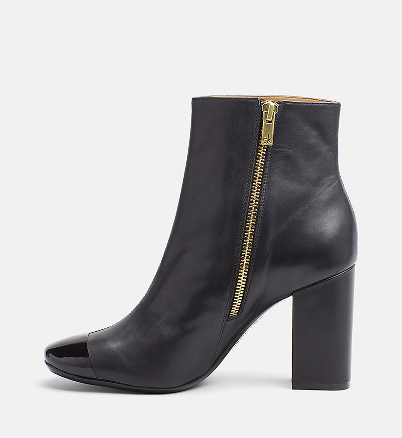 leather zip ankle boots calvin klein 174 00000e5795