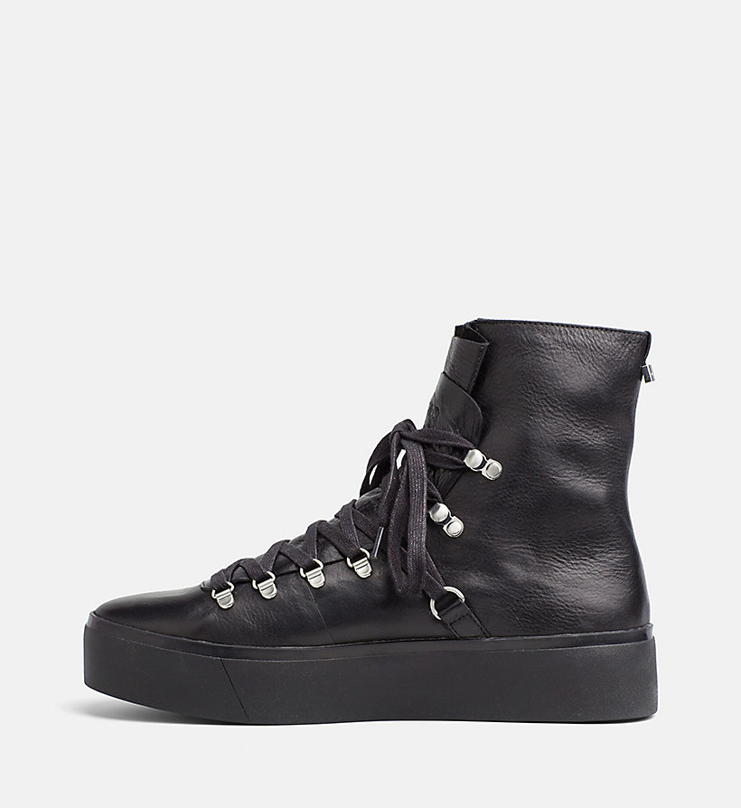 leather high top sneakers calvin klein 00000e5871. Black Bedroom Furniture Sets. Home Design Ideas
