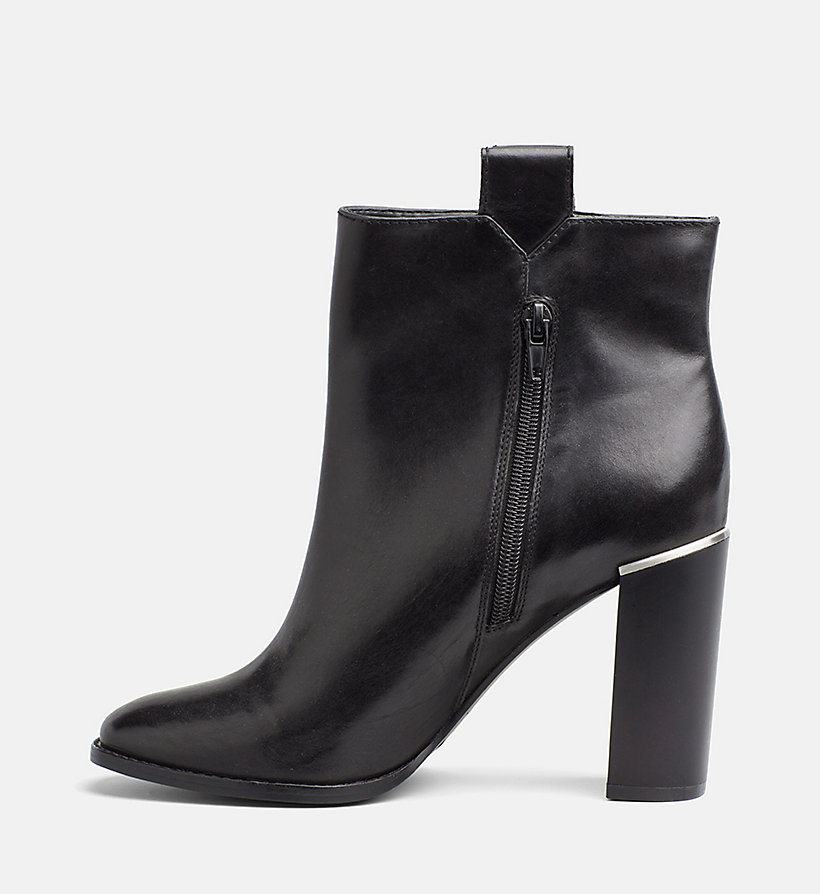 CALVINKLEIN Leather Zip Ankle Boots - DEEP NAVY - CALVIN KLEIN WOMEN - detail image 2