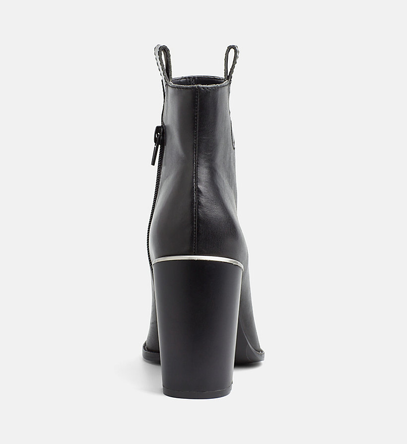 CALVINKLEIN Leather Zip Ankle Boots - DEEP NAVY - CALVIN KLEIN WOMEN - detail image 3