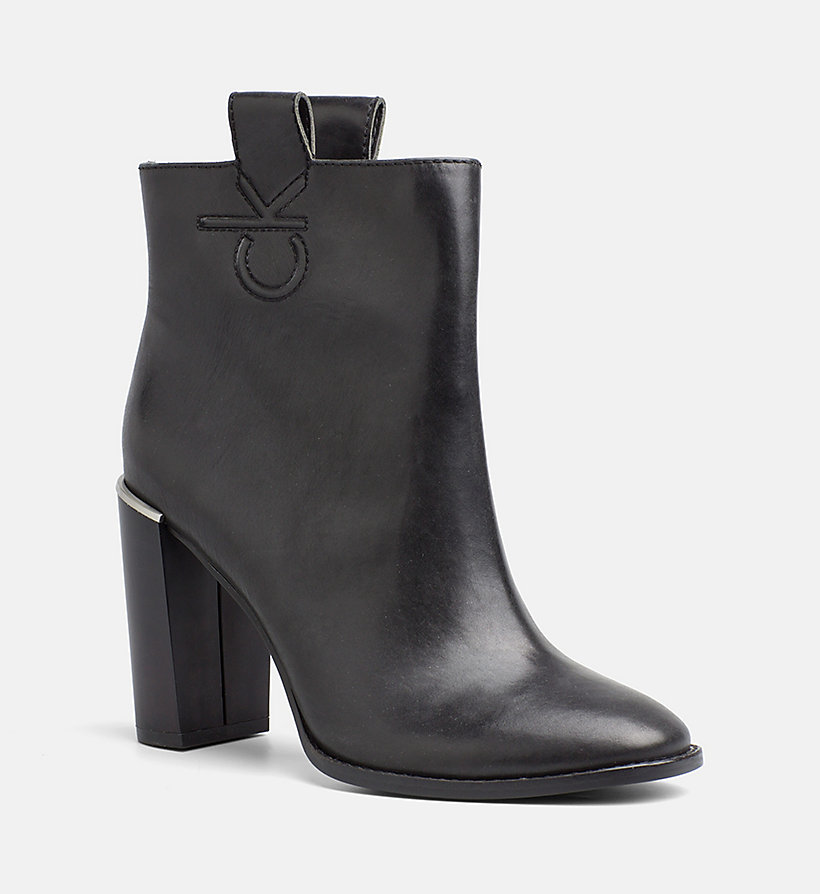 CALVINKLEIN Leather Zip Ankle Boots - DEEP NAVY - CALVIN KLEIN WOMEN - main image