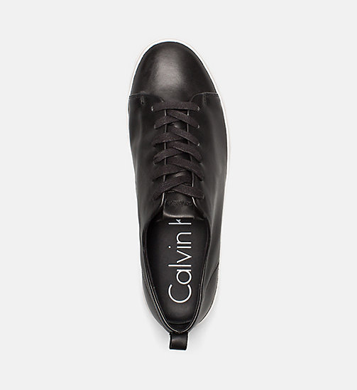CALVINKLEIN Nappa Leather Sneakers - BLACK - CALVIN KLEIN TRAINERS - detail image 1