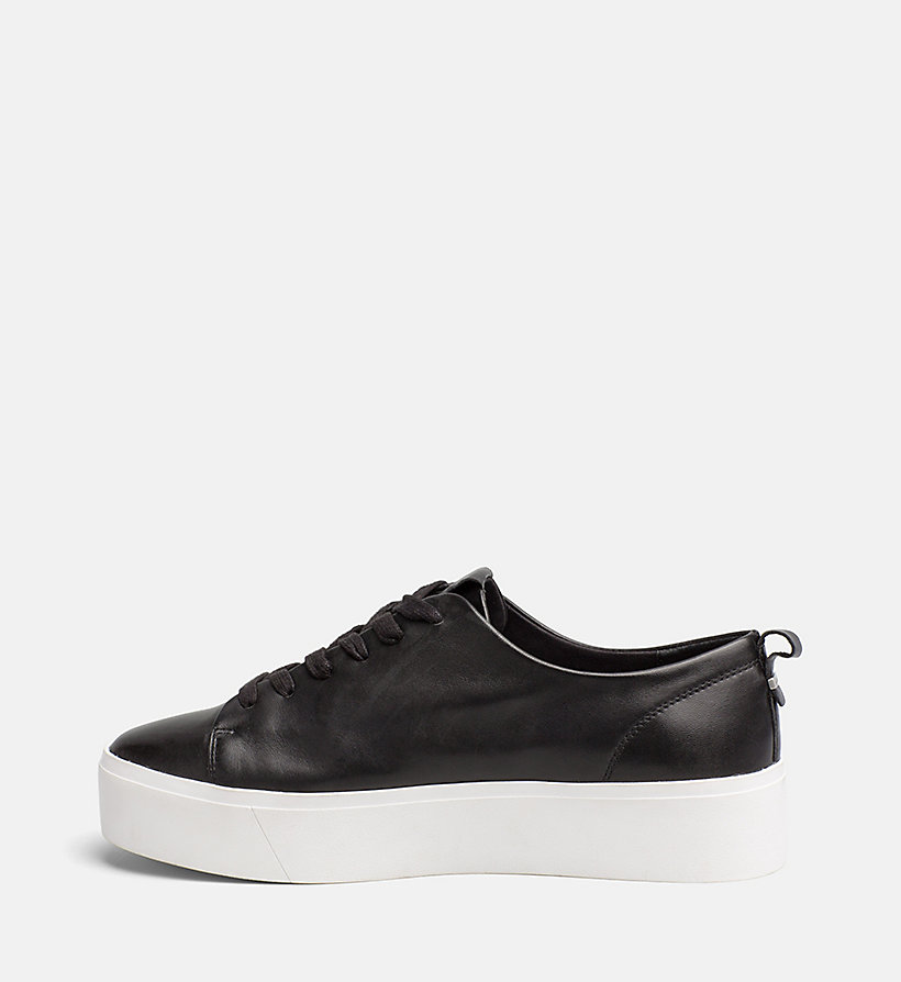 CALVINKLEIN Nappa Leather Sneakers - PLATINUM WHITE - CALVIN KLEIN WOMEN - detail image 2