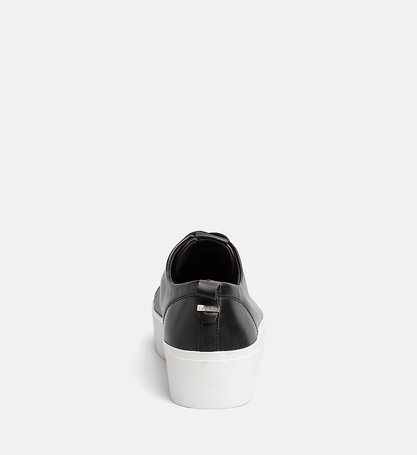 CALVINKLEIN Nappa Leather Sneakers - PLATINUM WHITE - CALVIN KLEIN WOMEN - detail image 3