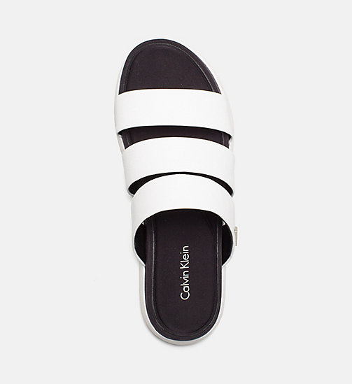 CALVINKLEIN Saffiano Sandals - PLATINUM WHITE -  SANDALS - detail image 1