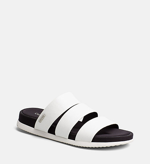 CALVINKLEIN Saffiano Sandals - PLATINUM WHITE -  SANDALS - main image