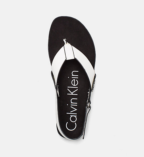 CALVINKLEIN Patent Sandals - PLATINUM WHITE -  SANDALS - detail image 1