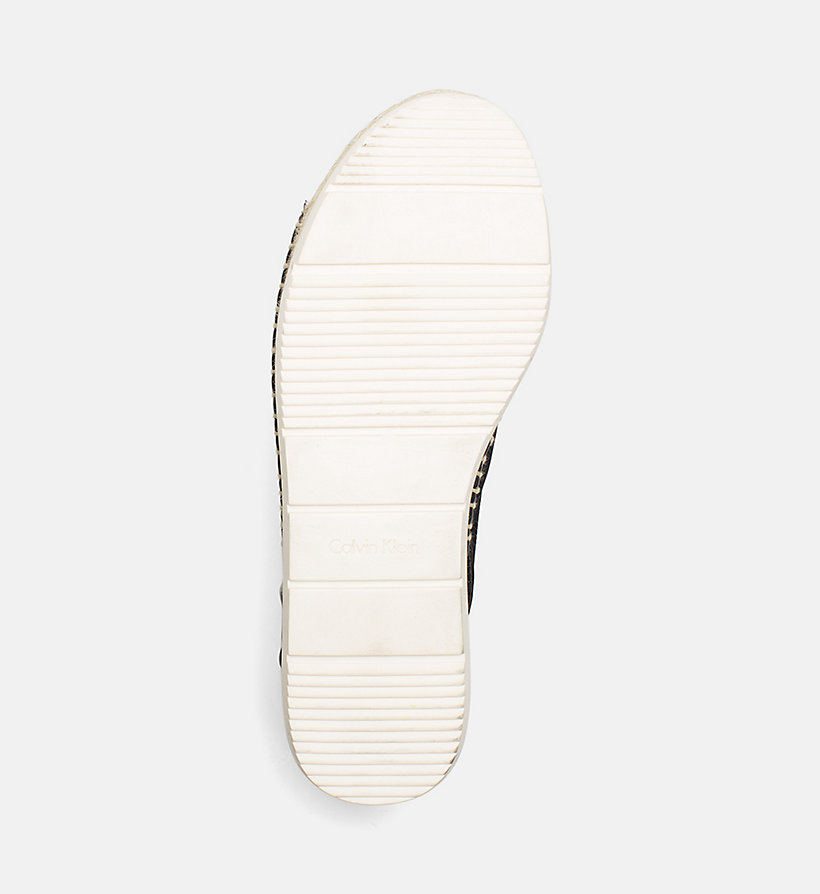 CALVINKLEIN Satin Canvas Sandals - PLATINUM WHITE - CALVIN KLEIN WOMEN - detail image 4
