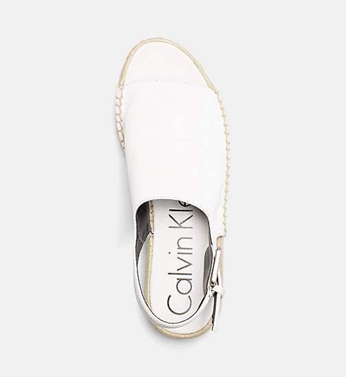 CALVINKLEIN Satin Canvas Sandals - PLATINUM WHITE - CALVIN KLEIN HEAT WAVE - detail image 1