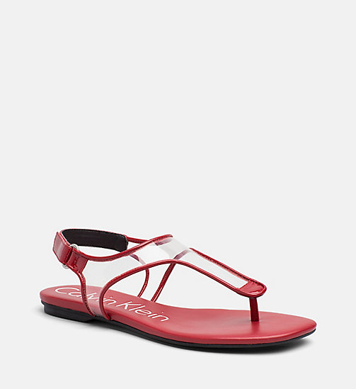 CALVINKLEIN Mesh Sandals - SCARLET - CALVIN KLEIN SHOES & ACCESORIES - main image