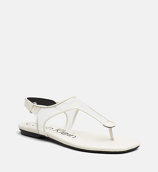 CALVINKLEIN Mesh Sandals - SOFT WHITE - CALVIN KLEIN SHOES & ACCESORIES - main image