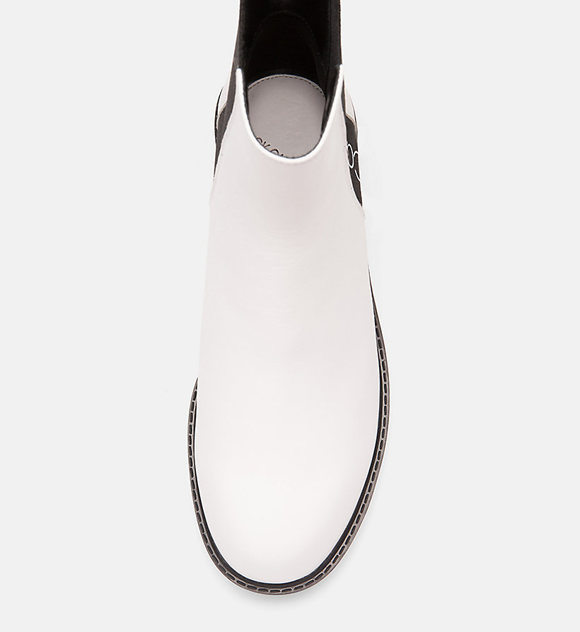 CALVINKLEIN Leather Ankle Boots - BLACK/ BLACK - CALVIN KLEIN WOMEN - detail image 4