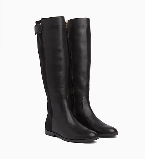 CALVIN KLEIN Leather Boots - BLACK - CALVIN KLEIN BOOTS - detail image 1