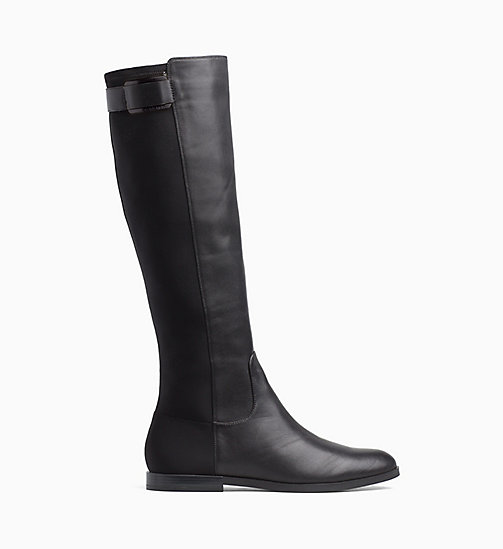 CALVINKLEIN Leather Boots - BLACK - CALVIN KLEIN BOOTS - main image