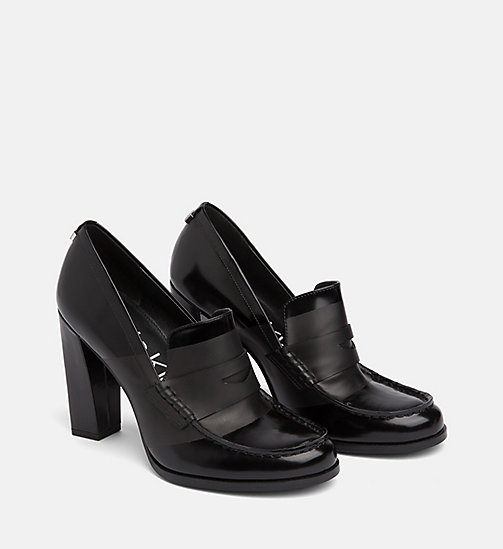 CALVIN KLEIN Leather Pumps - BLACK/BLACK - CALVIN KLEIN Pumps - detail image 1