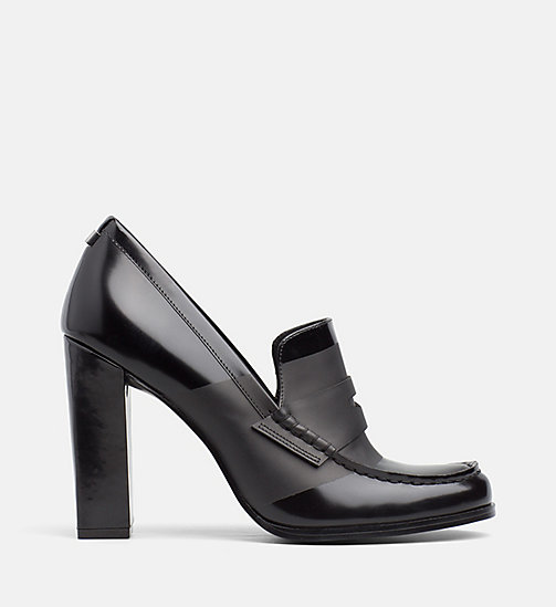 CALVINKLEIN Leather Pumps - BLACK/BLACK - CALVIN KLEIN Pumps - main image