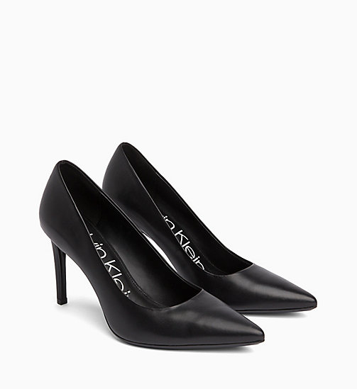 CALVIN KLEIN Leather Pumps - BLACK - CALVIN KLEIN Pumps - detail image 1