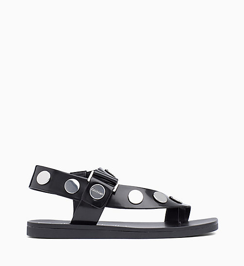 CALVIN KLEIN Studded Sandals - BLACK - CALVIN KLEIN SANDALS - main image