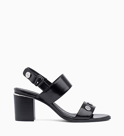 CALVIN KLEIN Studded Wedge Sandals - BLACK - CALVIN KLEIN SANDALS - main image