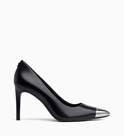 CALVIN KLEIN Leather Pumps - BLACK - CALVIN KLEIN Pumps - main image