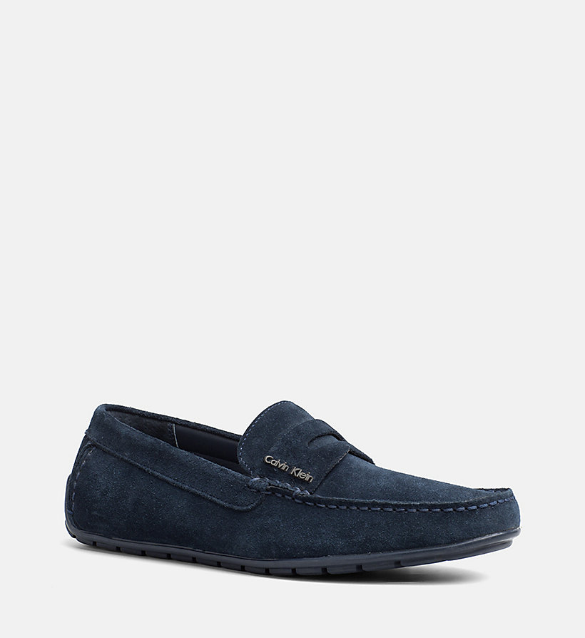 CALVINKLEIN Suede Loafers - TOFFEE - CALVIN KLEIN MEN - main image