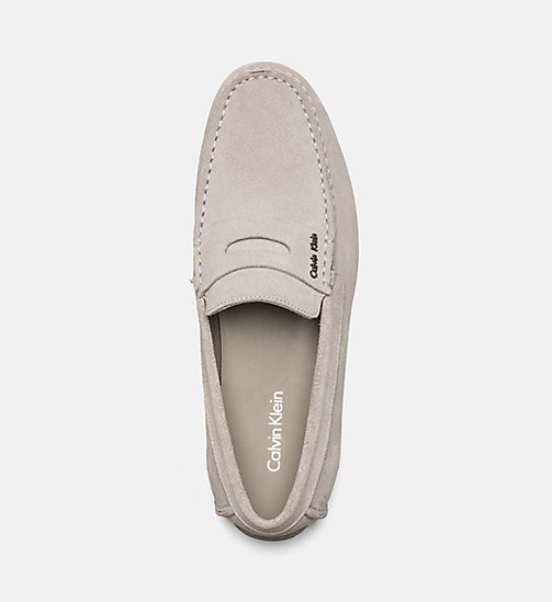 CALVINKLEIN Suede Loafers - TOFFEE - CALVIN KLEIN FLAT SHOES - detail image 1