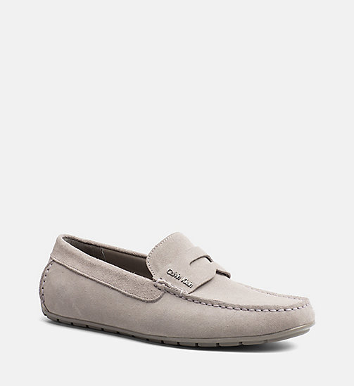 CALVINKLEIN Suede Loafers - TOFFEE - CALVIN KLEIN FLAT SHOES - main image