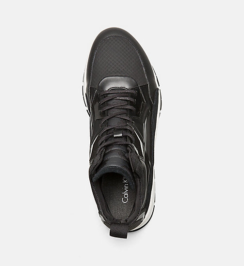 CALVINKLEIN High-Top Sneakers - BLACK - CALVIN KLEIN TRAINERS - detail image 1