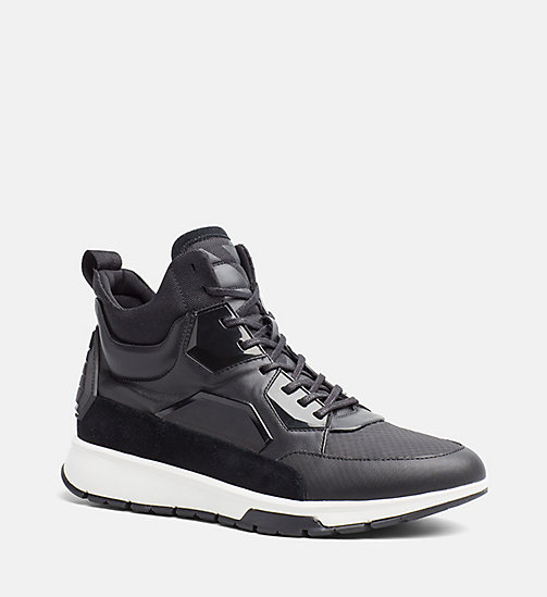 CALVINKLEIN High-top sneakers - BLACK -  SNEAKERS - main image