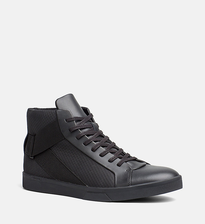 leather high top sneakers calvin klein 00000f0874. Black Bedroom Furniture Sets. Home Design Ideas