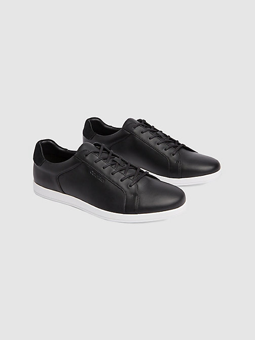 CALVINKLEIN Leather Sneakers - BLACK - CALVIN KLEIN TRAINERS - detail image 1