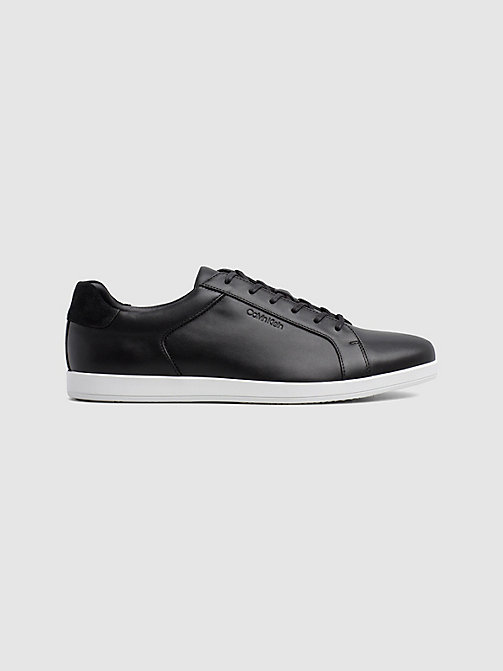 CALVIN KLEIN Leather Trainers - BLACK - CALVIN KLEIN TRAINERS - main image