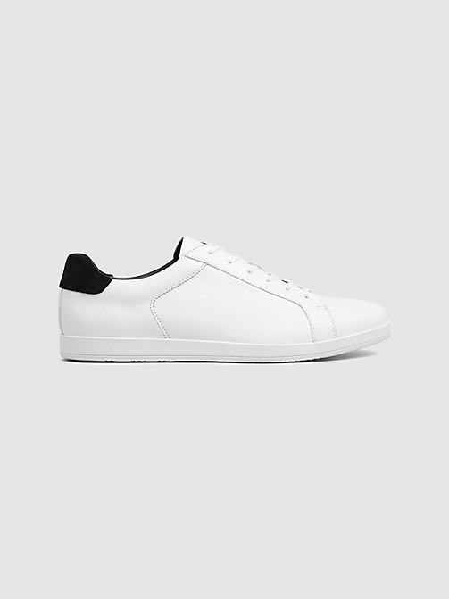 CALVINKLEIN Leather Trainers - WHITE - CALVIN KLEIN TRAINERS - main image