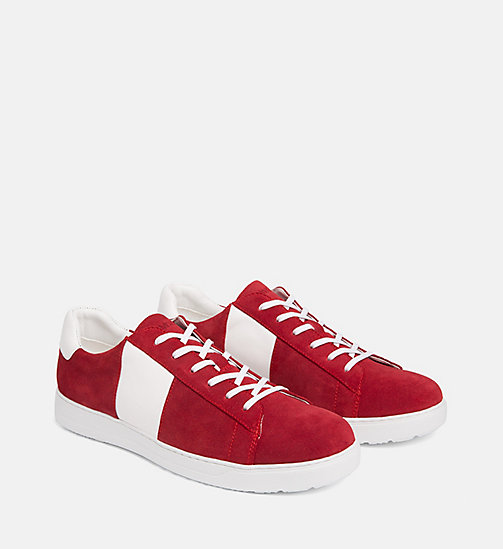 CALVINKLEIN Suede Trainers - ROUGE - CALVIN KLEIN TRAINERS - detail image 1