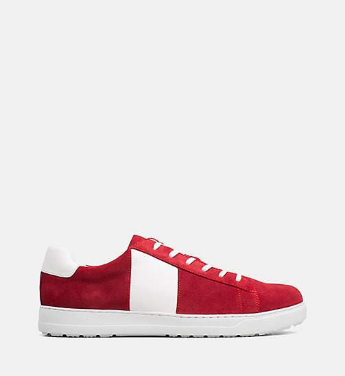 CALVINKLEIN Suede Trainers - ROUGE - CALVIN KLEIN TRAINERS - main image