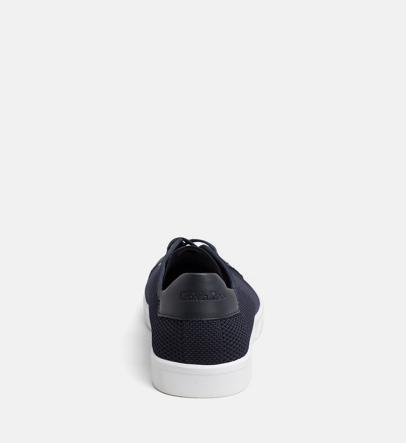 CALVINKLEIN Leather Knit Sneakers - WHITE - CALVIN KLEIN MEN - detail image 3