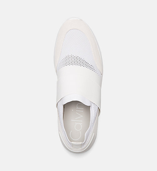 CALVINKLEIN Suede Knit Slip-On Shoes - WHITE - CALVIN KLEIN SHOES & ACCESSORIES - detail image 1