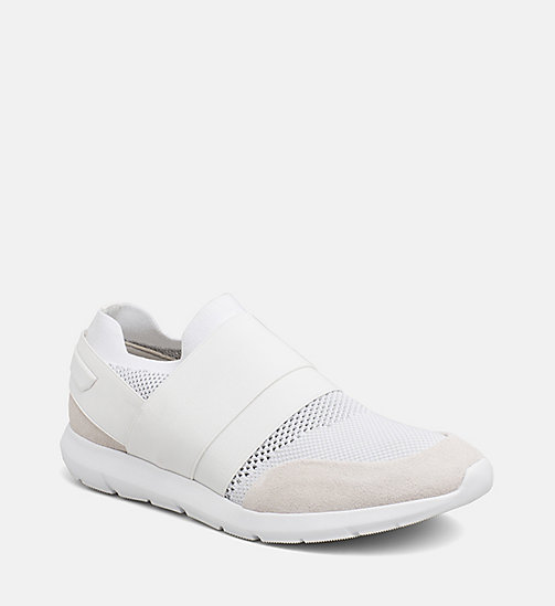 CALVINKLEIN Suede Knit Slip-On Shoes - WHITE - CALVIN KLEIN TRAINERS - main image