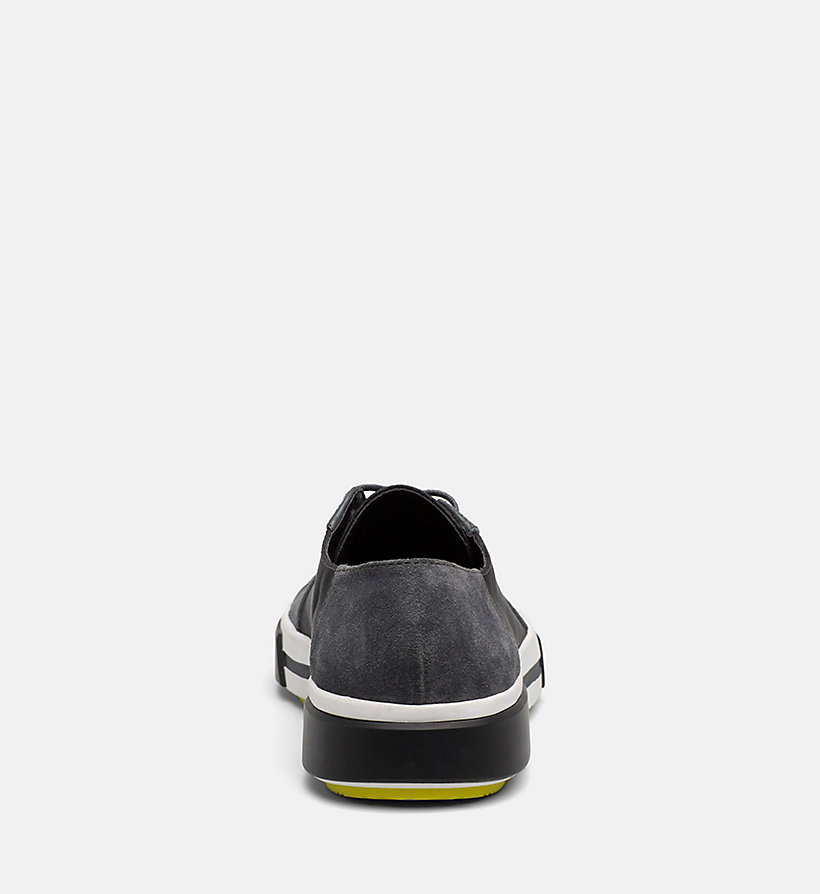 CALVINKLEIN Leather Sneakers - BLACK - CALVIN KLEIN MEN - detail image 3