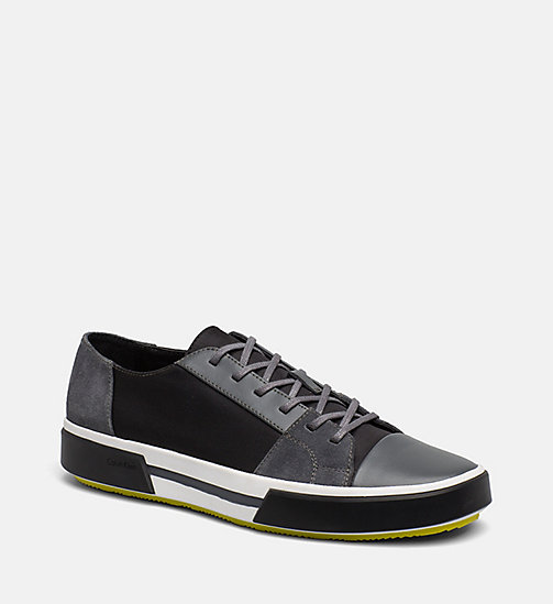 CALVINKLEIN Leather Sneakers - GREY -  TRAINERS - main image