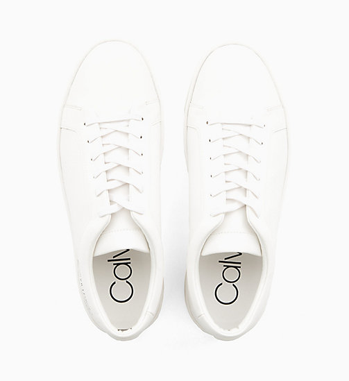 CALVIN KLEIN Leather Trainers - WHITE - CALVIN KLEIN TRAINERS - detail image 1