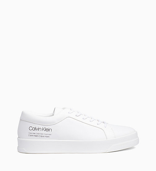 CALVIN KLEIN Leather Trainers - WHITE - CALVIN KLEIN TRAINERS - main image