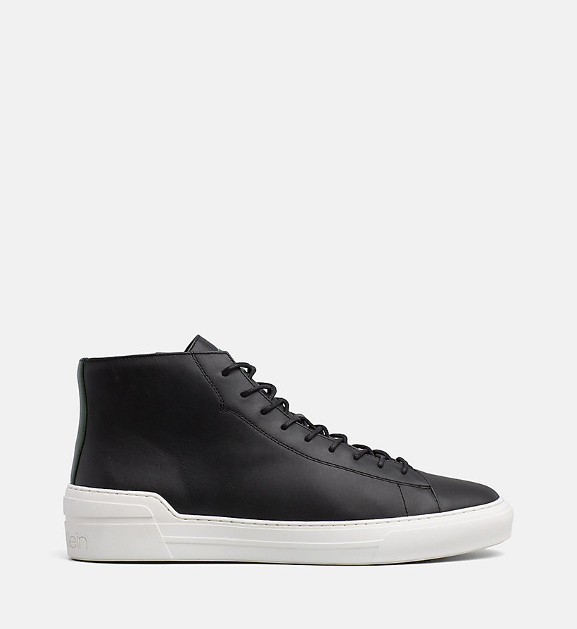 CALVINKLEIN Leather High-Top Trainers - NIGHT SCAPE - CALVIN KLEIN MEN - main image